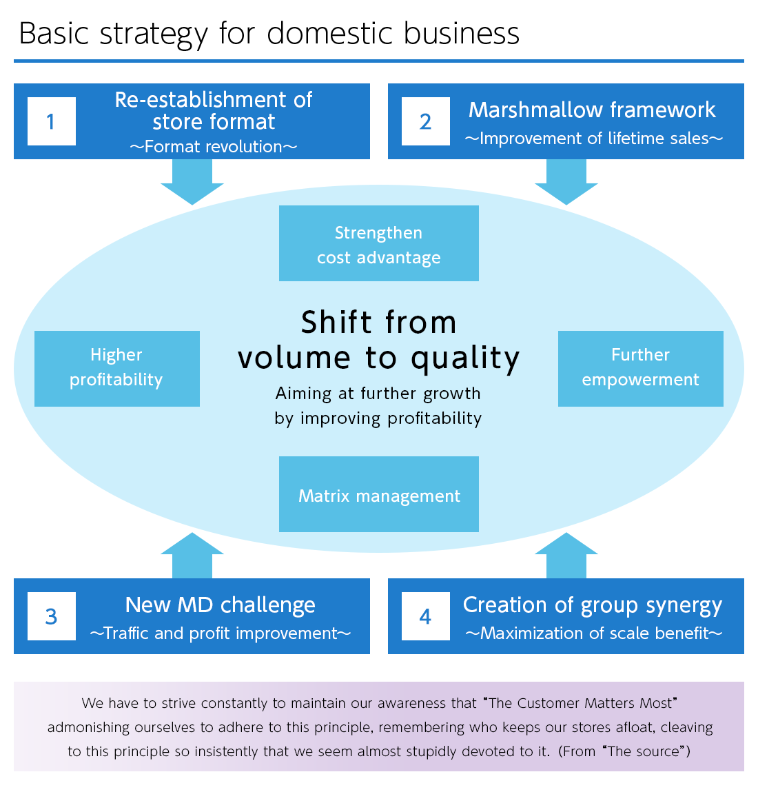 Basic strategy for domestic business